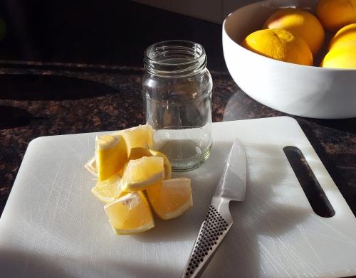 lemons cut into quarters